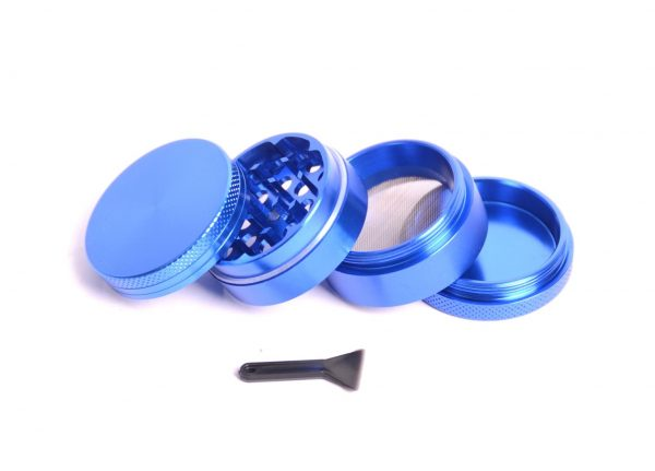Aluminiumgrinder, Magnet, 4-teilig